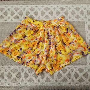 Alice Moon by Mooncollection Floral Flowy Shorts